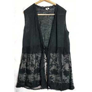 Kimono Sleeveless Duster Crochet Lace 18/20